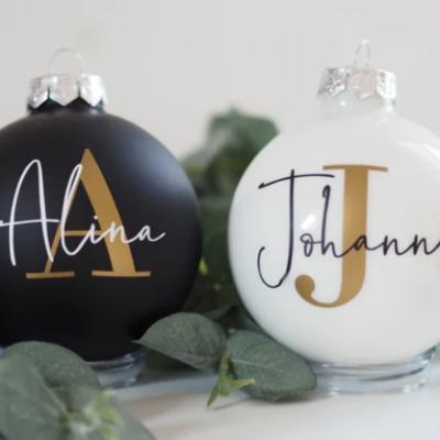 Boules de Noël personnalisée