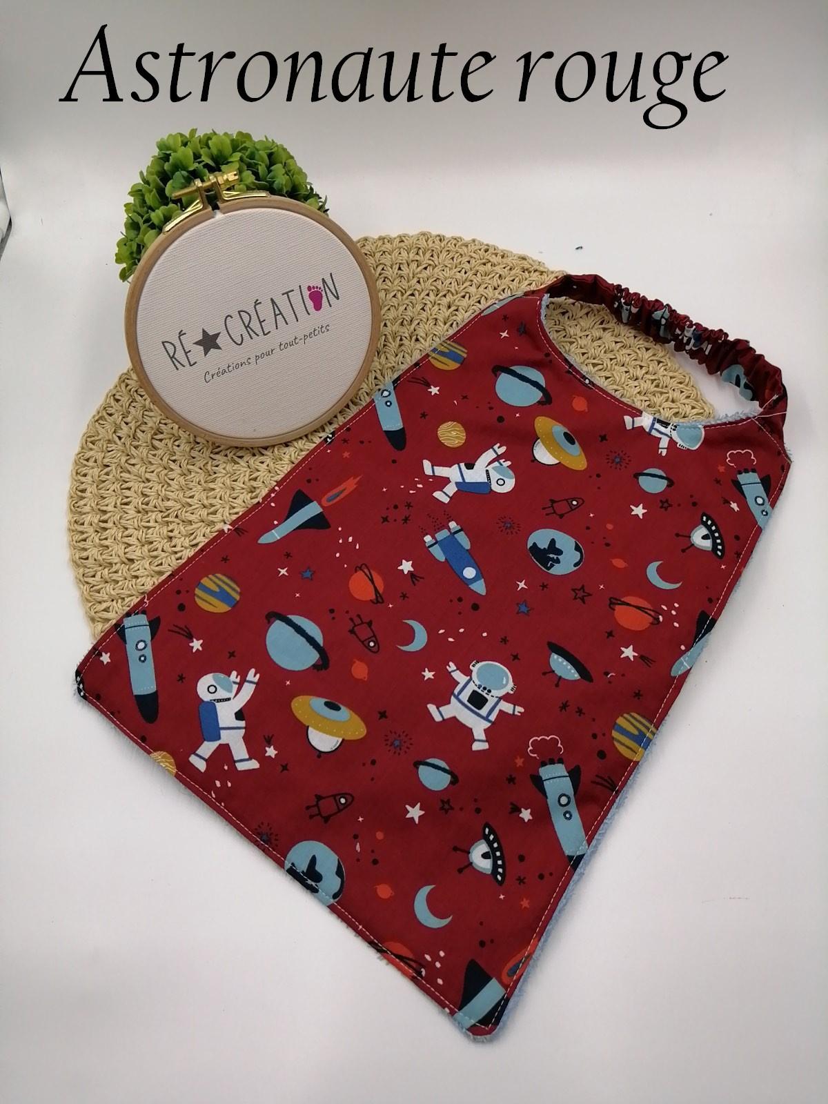 Bavoir serviette maternelle espace rouge 1