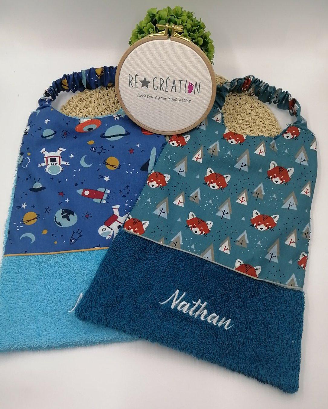 Bavoir serviette maternelle