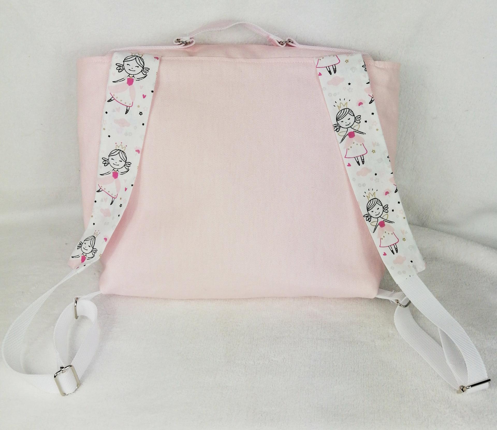 Cartable ecolier rose princesse2