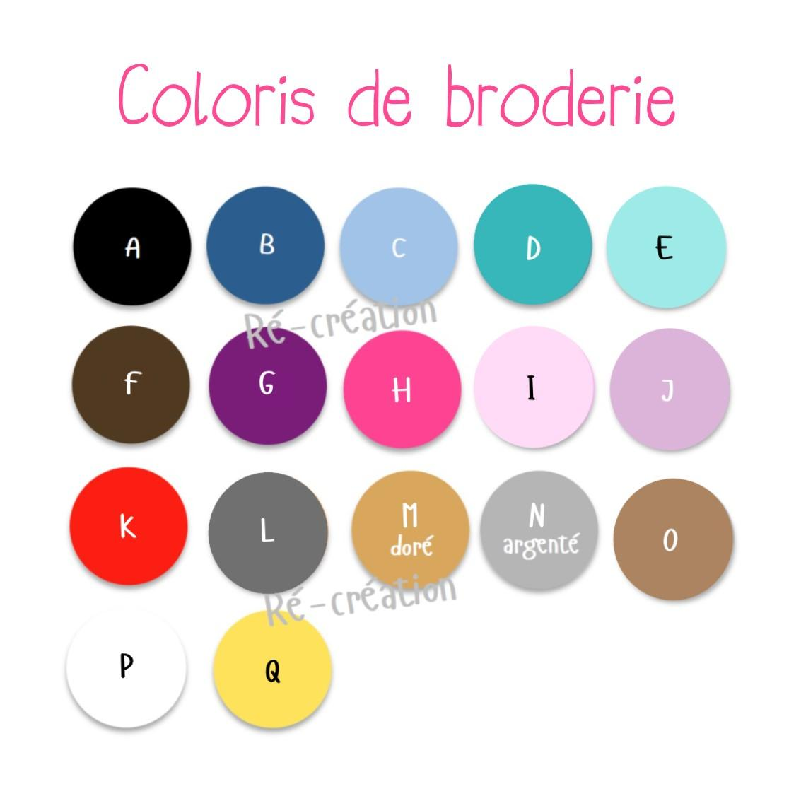 Coloris broderie