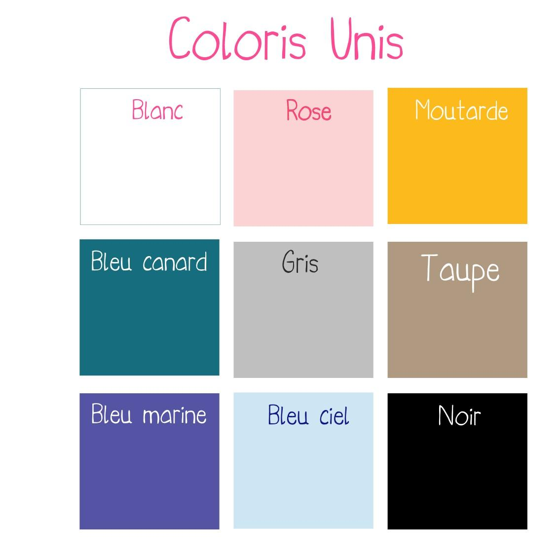Coloris unis