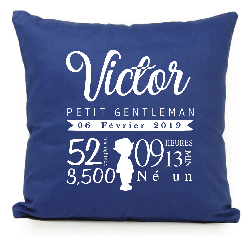 Coussin silhouette garcon