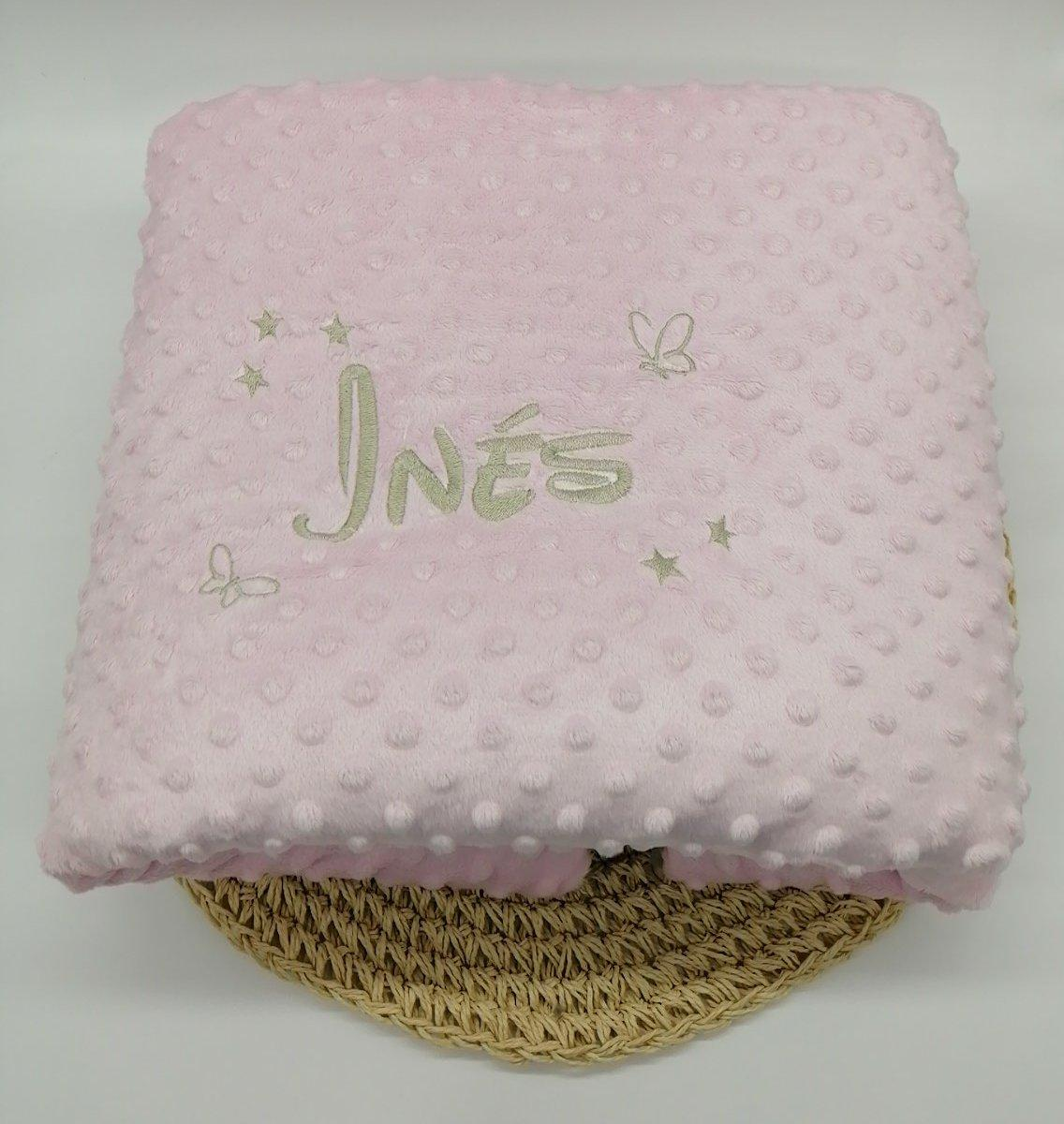 Couverture personnalise minky rose taupe2