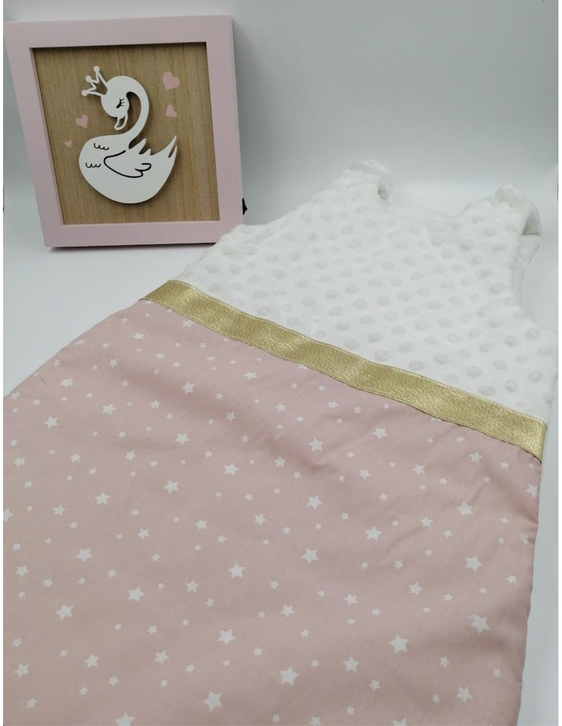 Gigoteuse bebe fille coton rose poudre etoile