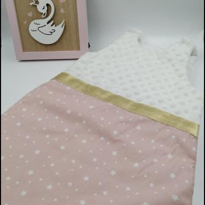 Gigoteuse bébé fille coton rose poudré étoilé