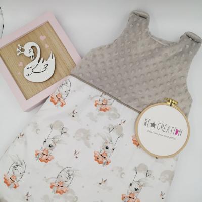 Gigoteuse bébé polaire taupe - petit lapin balançoire