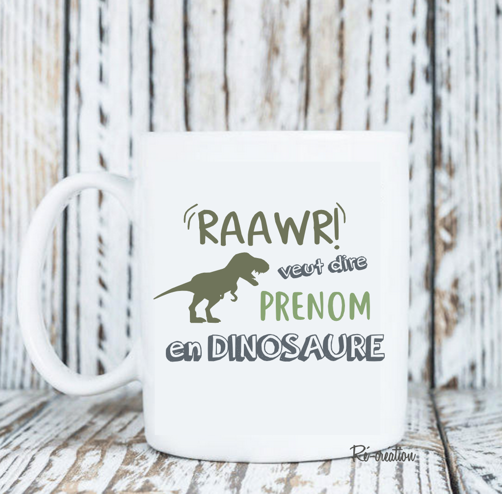 Mug personnalise dinosaure