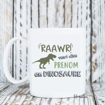 Mug personnalisé - Dinosaure