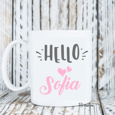 Mug personnalisé - Hello fille