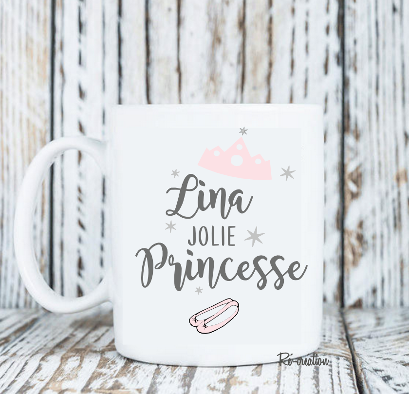 Mug personnalise jolie princesse