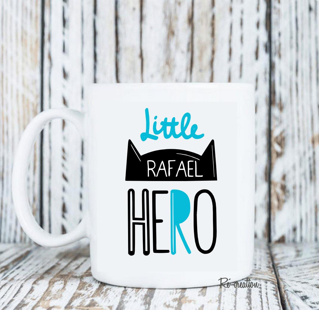 Mug personnalise little hero