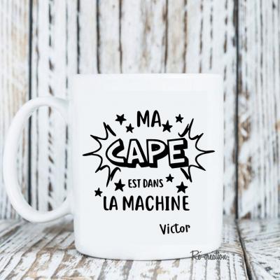 Mug personnalisé - cape