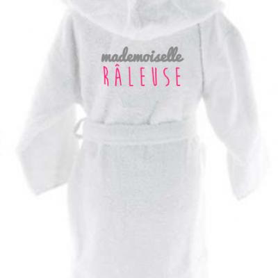 Peignoir enfant personnalisé - Mademoiselle