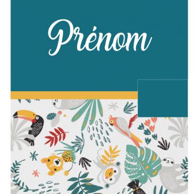 Protège carnet bleu canard jungle