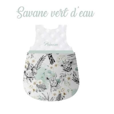 Gigoteuse bébé savane vert d'eau