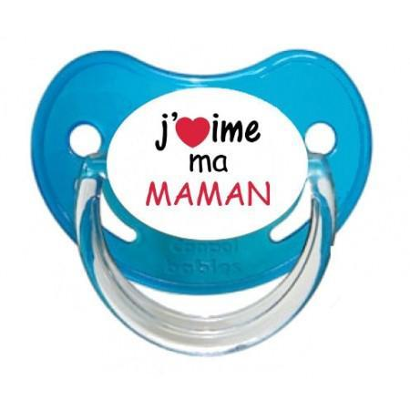 Sucette personnalisee j aime ma maman