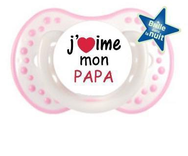 Tétine j'aime papa/maman