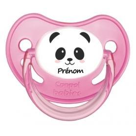 Sucette personnalisee visage panda fille et prenom